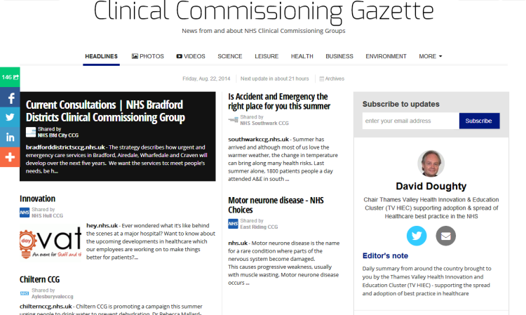 Clinical Commissioning Gazette